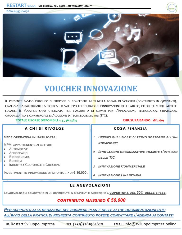 Voucher Innovazione – Regione Basilicata